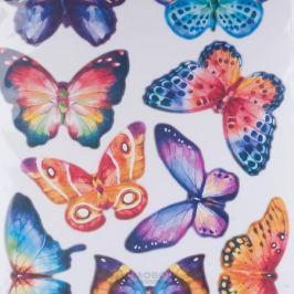 Набор наклеек ДЕКОРЕТТО, Акварельные бабочки, 35х50 см, винил
