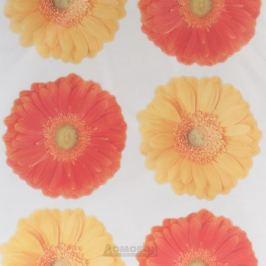 Набор наклеек ДЕКОРЕТТО, Герберы, 25х35 см, жёлто-оранжевые, винил