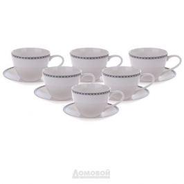 Набор чайный ESPRADO Arista White 6 персон, 12 предметов, 315мл, костяной фарфор, ARW031WE304