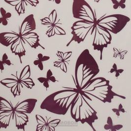 Набор наклеек ДЕКОРЕТТО, Розовые бабочки , 50х35 см, винил