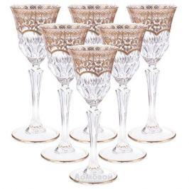 Набор рюмок для водки ASTRA GOLD Cristal, 80мл, 6шт, хрустальное стекло, 60695