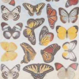 Набор наклеек ДЕКОРЕТТО, Садовые бабочки, 35х50 см, винил
