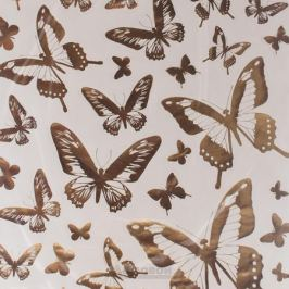 Набор наклеек ДЕКОРЕТТО, Золотые бабочки, 50х70 см, винил