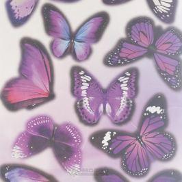 Набор наклеек ДЕКОРЕТТО, Бабочки Ультрафиолет, 30х30 см, винил