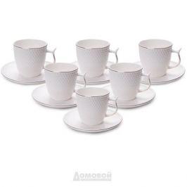 Набор кофейных пар по 220мл, 12 предметов, фарфор