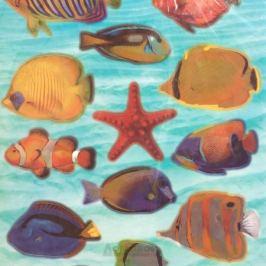 Набор наклеек ДЕКОРЕТТО, Рыбы Красного моря , 35х50 см, винил