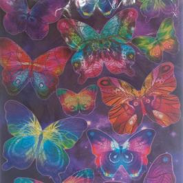 Набор наклеек ДЕКОРЕТТО, Таинственные бабочки, 35х50 см, винил