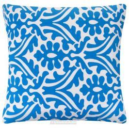 Подушка декоративная Унисон, 45х45см, рогожка, синий, хлопок, 360680