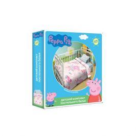 Комплект постельного белья Peppa Pig Пеппа балерина детский, 110х150см, наволочка 40х60см, поплин