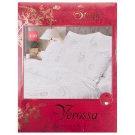 Комплект постельного белья VEROSSA Серебро 2-спальный, наволочка 50х70см 2шт, страйп сатин