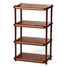 Этажерка для хранения IDEA, 4 полки, коричневый пластик