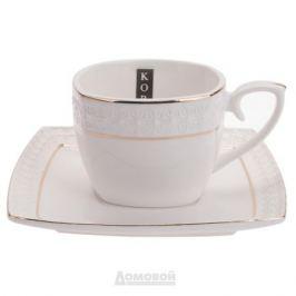 Набор чайный КОРАЛЛ Снежная королева 6 персон, 12 предметов, фарфор, 749190