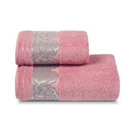 Полотенце махровое CLEANELLY Сальвиетта, 50х90см, розовый, 100% хлопок