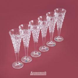 Набор бокалов для шампанского BOHEMIA JIHLLAVA Chelsey 210мл 6шт хрусталь, 93/19J20/0/93K87/210