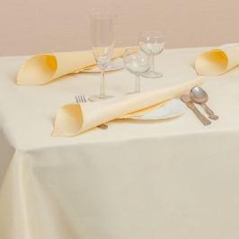 Комплект столового белья Linetex, скатерть 180х150см, салфетки 35х35см, 6шт, шампань, 88% пэ, 12% хлопок