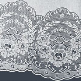 Скатерть NIKLEN, 137х137см, белый, ажур, ПВХ безосновный, 1531.