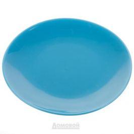 Тарелка HOME CAFE голубая 20см, керамика