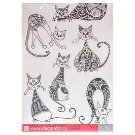 Набор наклеек ДЕКОРЕТТО Необычный кот, 23х36см