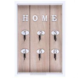 Ключница открытая Home, размер: 30х20х3cм, светлый бук, дерево