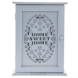Ключница закрытая Sweet Home, размер: 30х22х7см, серый, дерево