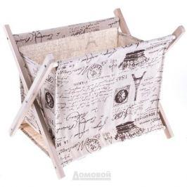 Газетница, 32х26см, дерево, текстиль