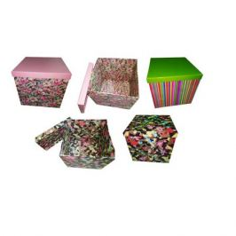Коробка подарочная квадрат 15х15х13см