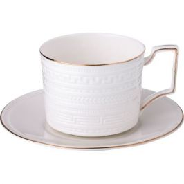 Пара чайная 250мл белая фарфор