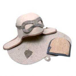 Набор для сауны Пилот (шапка, коврик, мочалка) войлок