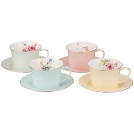 Набор чайный Времена года 4 персоны, 8 предметов 250мл фарфор
