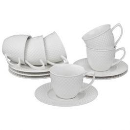Набор кофейный Диаманд 6 персон, 12 предметов предметов 90мл фарфор