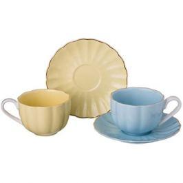 Набор кофейный 2 персоны, 4 предмета 135 мл, фарфор