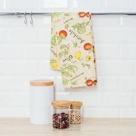 Полотенце кухонное Артишоки, 35х61см, вафельное, 100% хлопок