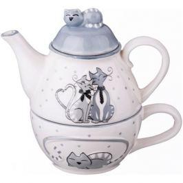 Набор чайный Ля мур на 1 персону 2 предмета. 250/190 мл, керамика