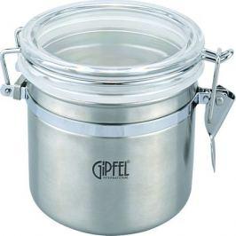 Банка для сыпучих продуктов GIPFEL 0,9л, нержавеющая сталь 5585