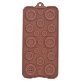 Форма для шоколадных конфет MULTIDOM Пуговицы, силикон, VL80-336