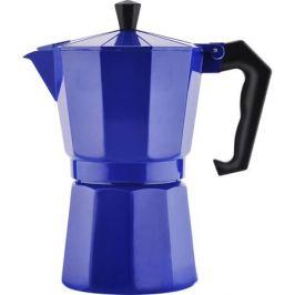 Кофеварка гейзерная Mallony Grande на 6 чашек, 250мл, синий, алюминий, 004263
