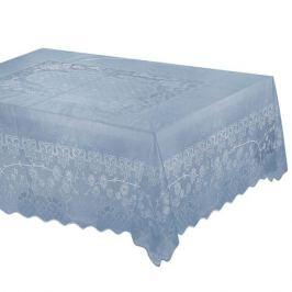 Скатерть, размер: 110x140см, кружевная, голубой, ПВХ