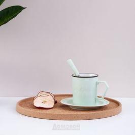 Пара чайная с ложкой LEFARD Пастель 250мл, керамика, 495-1053