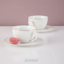 Набор чайный LEFARD Диаманд голд 6 персон, 12 предметов 220мл, фарфор, 359-295