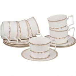 Набор чайный LEFARD Роскошь 6 персон, 12 предметов 250мл, фарфор, 760-457