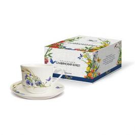 Пара чайная PRIORITY Славянский букет Васильки 480мл, фарфор, КРС - 780