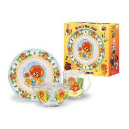 Набор посуды детский PRIORITY Львенок, стекло, КРС-260