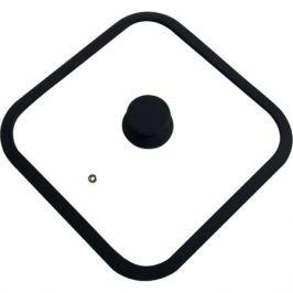 Крышка QUADRATO, 26х26см, стекло/силикон, 003666