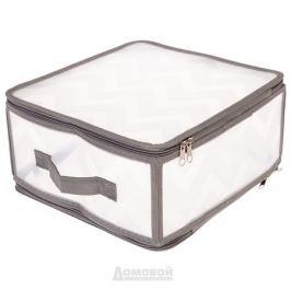 Коробка для хранения BOGGART ЗИГ-ЗАГ, 30х28х15см, с молнией, пластик