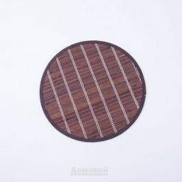 Салфетка сервировочная, d38см, коричневый, бамбук