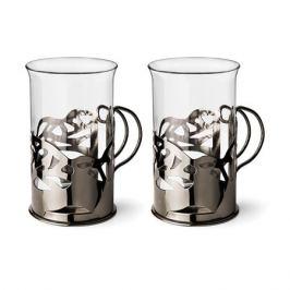 Набор кружек APOLLO GENIO APOLLO genio Cite Black Onyx 250 мл 2 шт, стекло/нержавеющая сталь, CTO-250