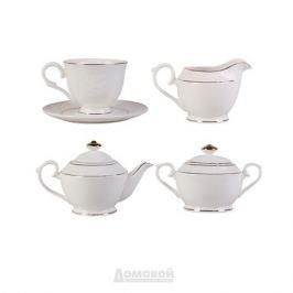 Сервиз чайный КОРАЛЛ Роза 6 персон, 15 предметов, фарфор, 881920
