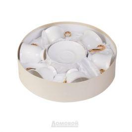 Набор чайный КОРАЛЛ Золотой Лед 6 персон, 12 предметов 220мл, фарфор, 912596