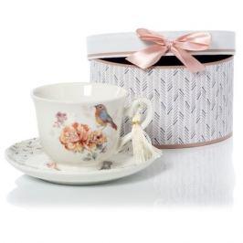 Пара чайная SIJ ПТИЧКА 200мл, фарфор, GC19003