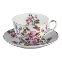 Пара чайная LEFARD Весна с бабочкой 250мл, фарфор, 69-1639